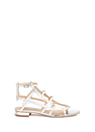 Main View - Click To Enlarge - CHELSEA PARIS - 'Bain' caged mirror leather sandals