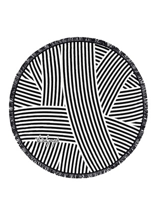 Detail View - Click To Enlarge - The Beach People - 'The Paloma' fringed Roundie towel