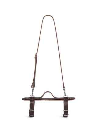 Main View - Click To Enlarge - The Beach People - Leather towel carrier
