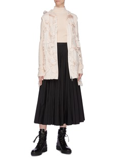 Moncler Genius x Simone Rocha 'Lilac' ruffle trim hooded gilet