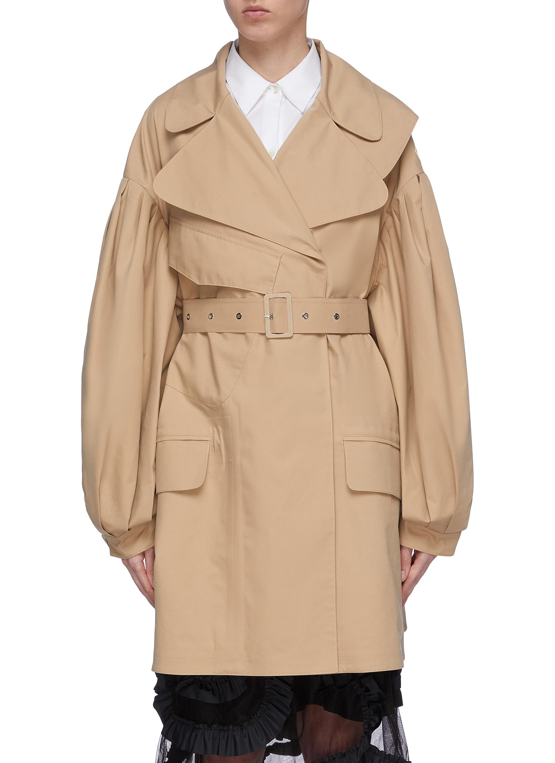 x Simone Rocha belted puff sleeve trench coat by Moncler Genius