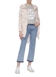 Moncler Genius x Simone Rocha 'Jasmine' ruffle trim hooded jacket