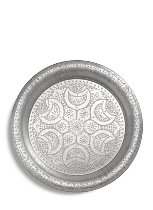 Main View - Click To Enlarge - CHABI CHIC - Large engraved aluminium tray