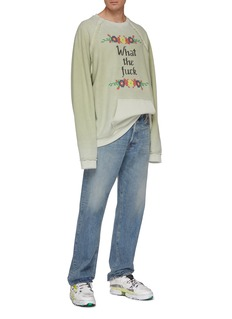 Maison Margiela Slogan floral cross stitch terry sweatshirt
