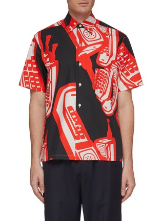 Main View - Click To Enlarge - MAISON MARGIELA - Telephone graphic print short sleeve shirt