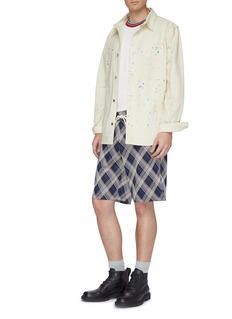 Maison Margiela Tartan plaid sweat shorts