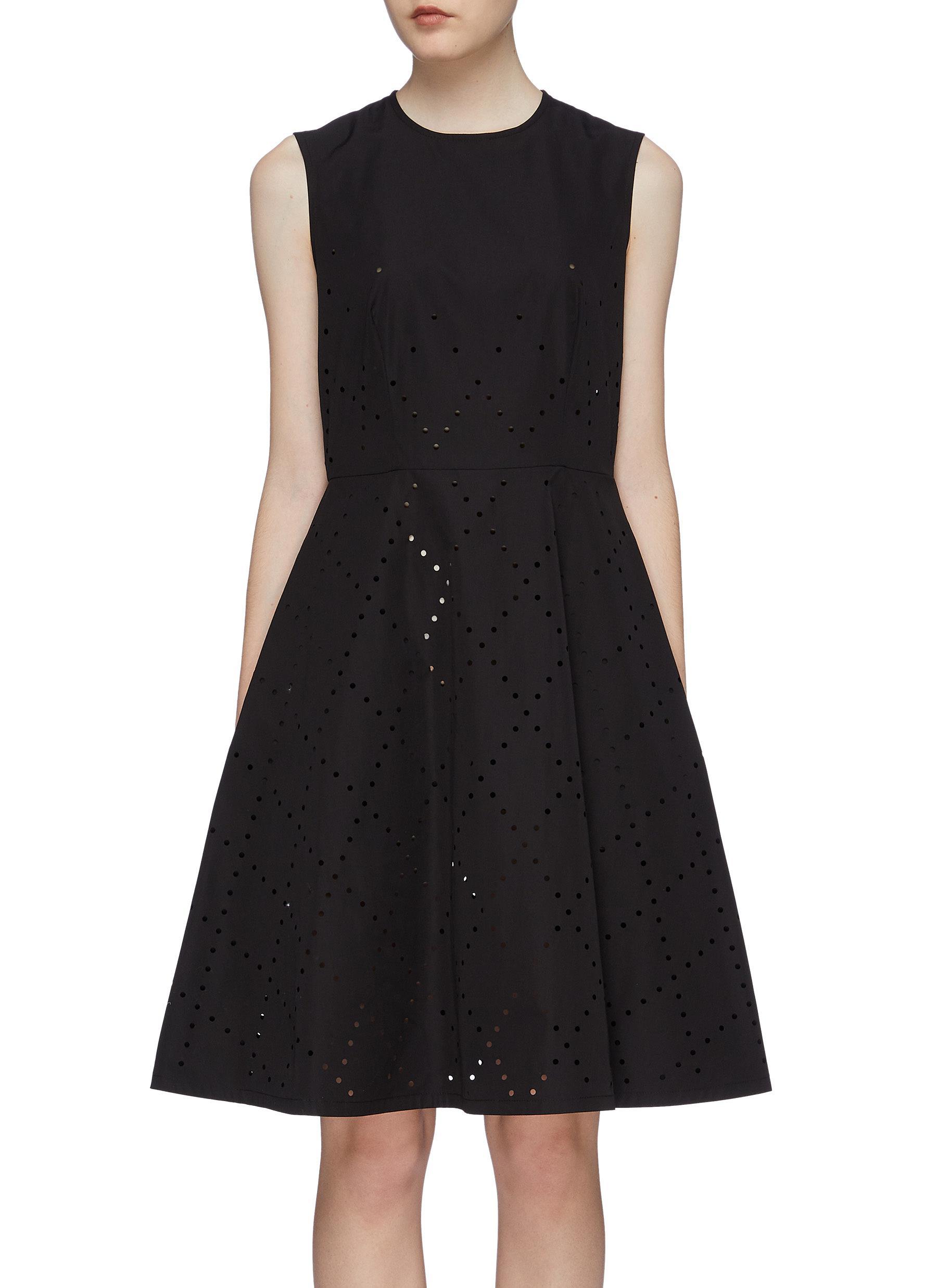 x Noir Kei Ninomiya geometric perforated sleeveless dress by Moncler Genius
