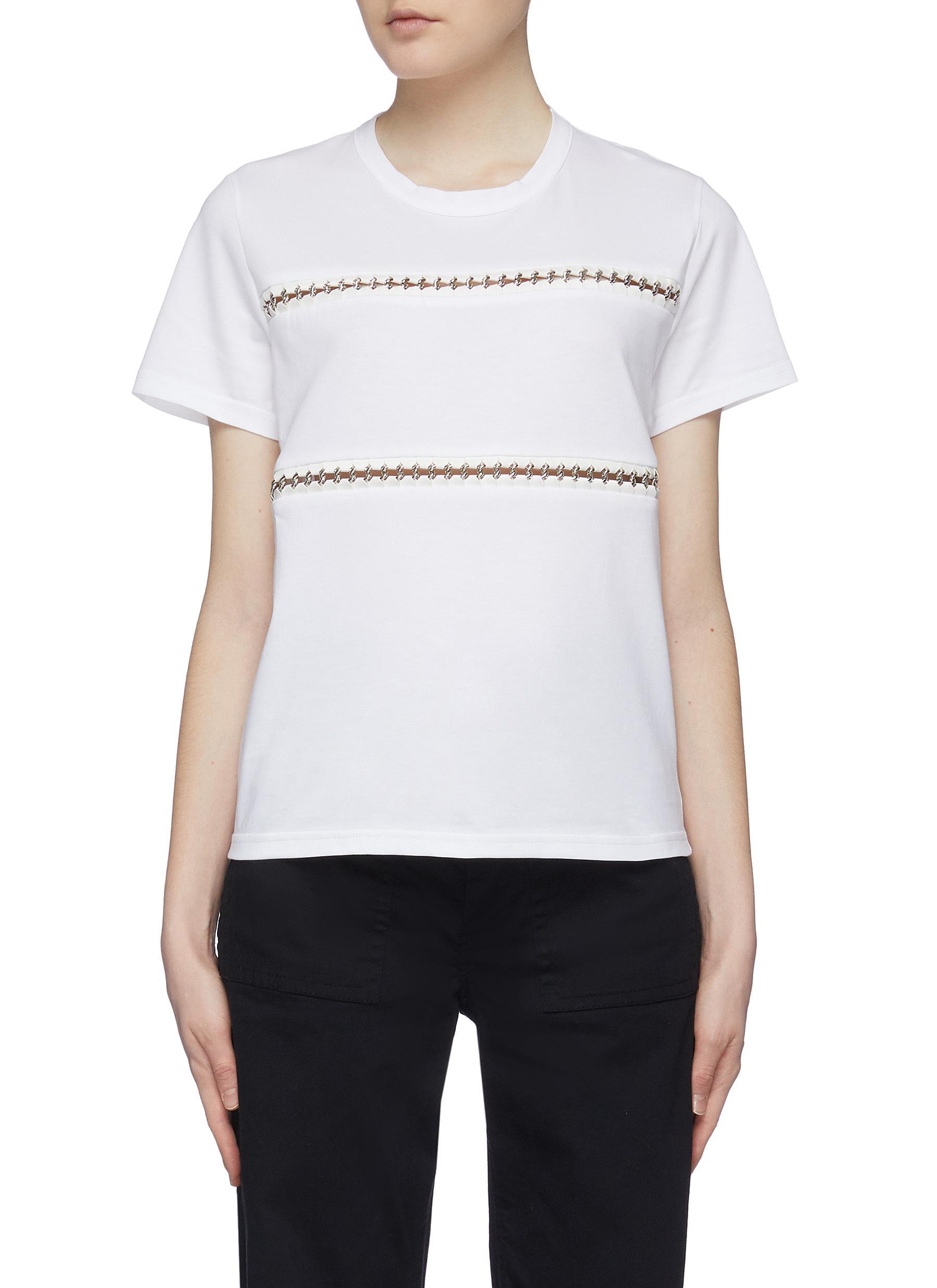 x Noir Kei Ninomiya metal ring trim cutout T-shirt by Moncler Genius