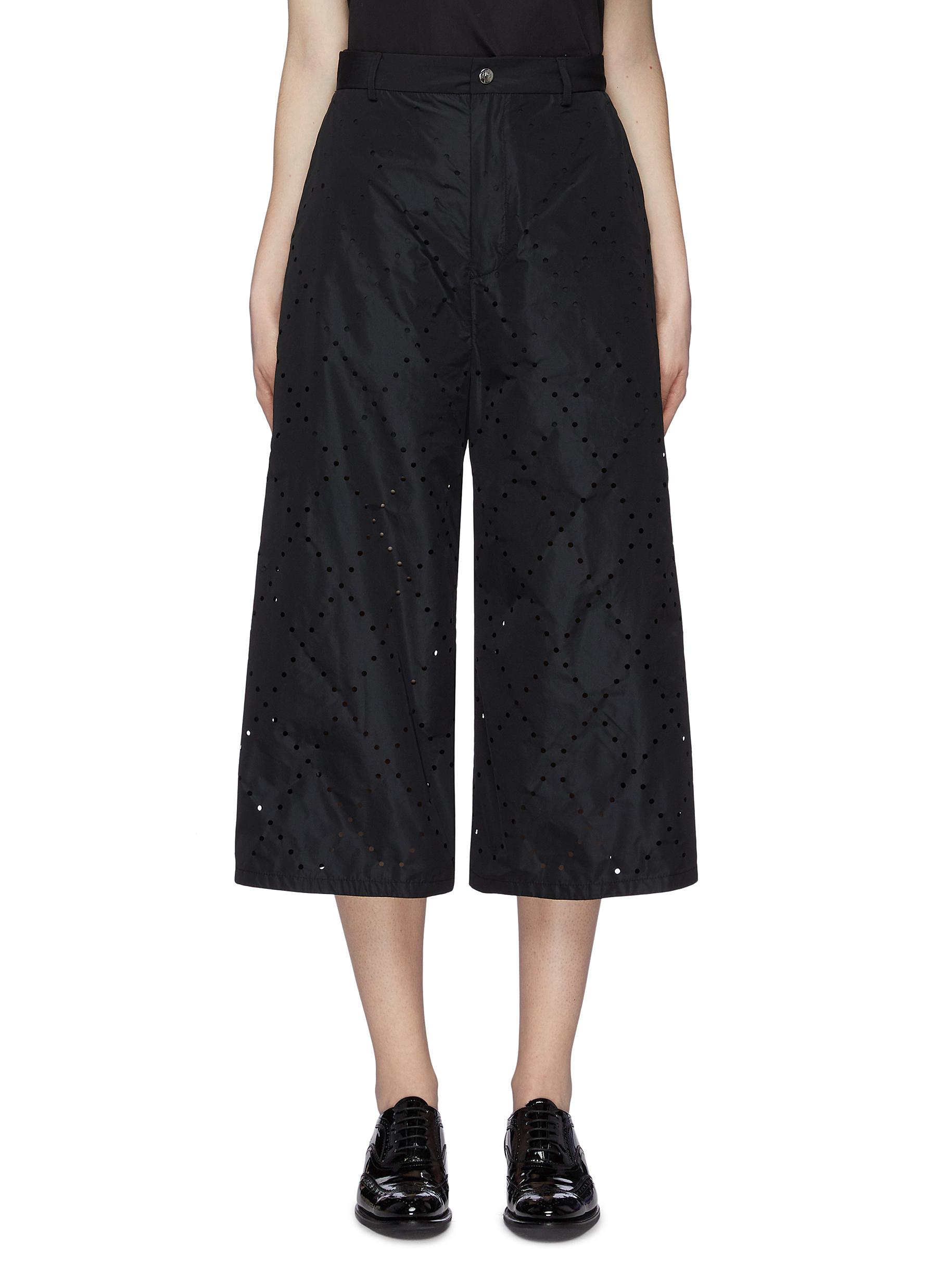 x Noir Kei Ninomiya geometric perforated culottes by Moncler Genius