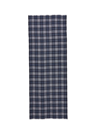 Main View - Click To Enlarge - Begg & Co - 'Wispy Wallis' houndstooth tartan plaid cashmere scarf