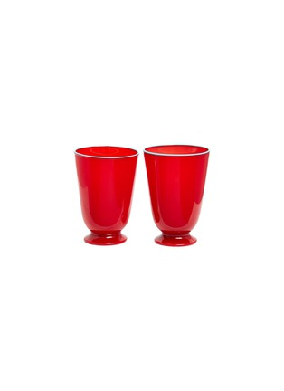Main View - Click To Enlarge - LA DOUBLEJ - Tumbler set – Red