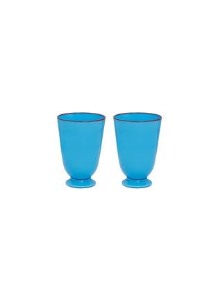 Main View - Click To Enlarge - LA DOUBLEJ - Tumbler set –Turquoise