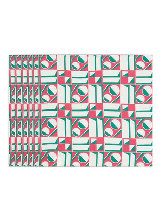 Main View - Click To Enlarge - LA DOUBLEJ - x Mascioni Geometrico Rosa large napkin set