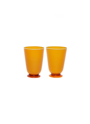 Main View - Click To Enlarge - LA DOUBLEJ - Tumbler set –Orange