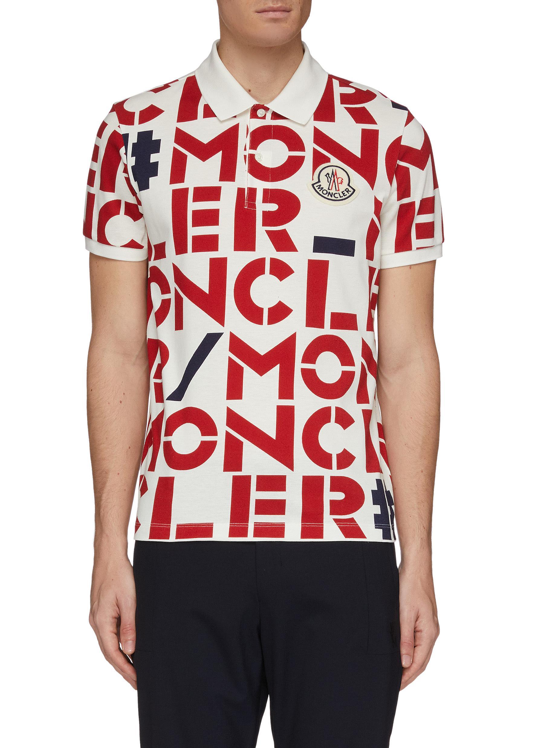 6719de6a6 MONCLER GENIUS   x 1952 logo print polo shirt   Men   Lane Crawford