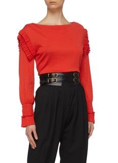 Philosophy di Lorenzo Serafini Leather corset belt