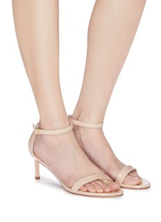 Stuart Weitzman 'NuNaked Straight' patent leather ankle strap sandals