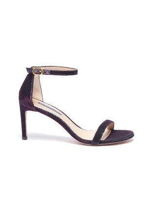 f620f1ec4139 Stuart Weitzman.  Nunakedstraight  metallic ankle strap sandals