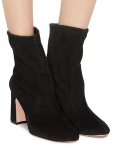 Stuart Weitzman 'Niki' stretch suede ankle boots