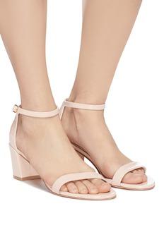 Stuart Weitzman 'Simple' ankle strap patent leather sandals