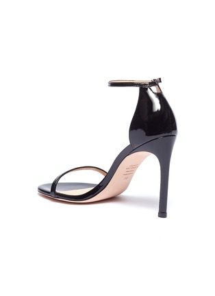 - STUART WEITZMAN - 'Nudistsong' ankle strap patent leather sandals