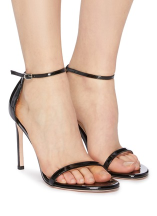 Figure View - Click To Enlarge - STUART WEITZMAN - 'Nudistsong' ankle strap patent leather sandals