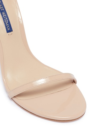 Detail View - Click To Enlarge - STUART WEITZMAN - 'Nudistsong' ankle strap patent leather ankle strap sandals