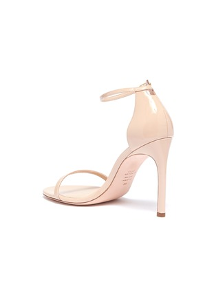 - STUART WEITZMAN - 'Nudistsong' ankle strap patent leather ankle strap sandals