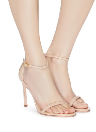 Figure View - Click To Enlarge - STUART WEITZMAN - 'Nudistsong' ankle strap patent leather ankle strap sandals