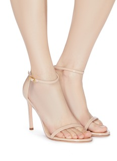 Stuart Weitzman 'Nudist Song' patent leather ankle strap sandals