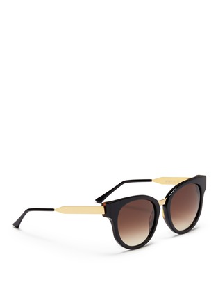 Figure View - Click To Enlarge - Thierry Lasry - 'Affinity' metal temple acetate round sunglasses