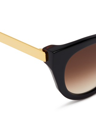 Detail View - Click To Enlarge - Thierry Lasry - 'Snobby' acetate angular cat eye sunglasses