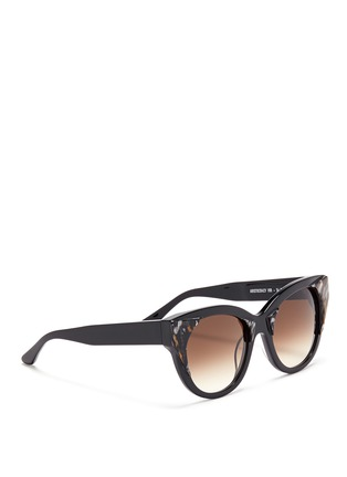 Figure View - Click To Enlarge - THIERRY LASRY - 'Aristocracy' inset pearlescent acetate cat eye sunglasses