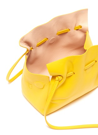 Detail View - Click To Enlarge - MANSUR GAVRIEL - 'Protea' mini ruched leather crossbody bag
