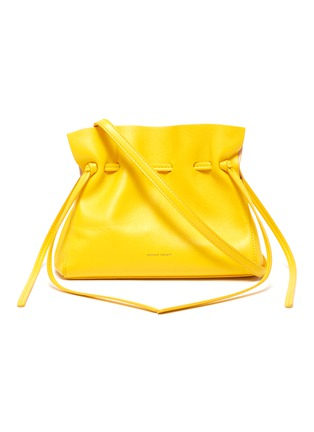 Main View - Click To Enlarge - MANSUR GAVRIEL - 'Protea' mini ruched leather crossbody bag