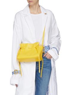 Mansur Gavriel 'Protea' mini ruched leather crossbody bag