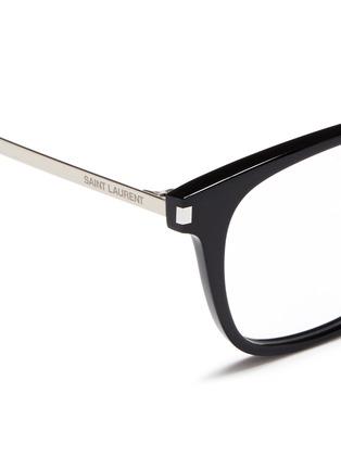 Detail View - Click To Enlarge - SAINT LAURENT - 'SL 26' metal temple acetate square optical glasses