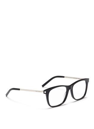 Figure View - Click To Enlarge - SAINT LAURENT - 'SL 26' metal temple acetate square optical glasses