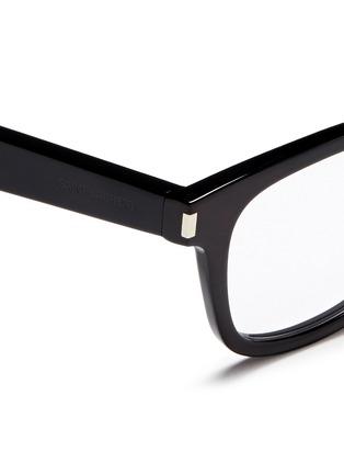 Detail View - Click To Enlarge - SAINT LAURENT - 'SL 50/F' acetate square optical glasses