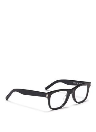 Figure View - Click To Enlarge - SAINT LAURENT - 'SL 50/F' acetate square optical glasses