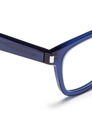 Detail View - Click To Enlarge - SAINT LAURENT - 'SL50/F' acetate square optical glasses