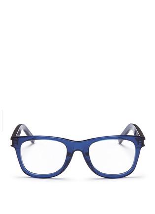 Main View - Click To Enlarge - SAINT LAURENT - 'SL50/F' acetate square optical glasses