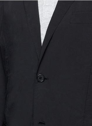 Detail View - Click To Enlarge - ASPESI - 'Ristretta' notch lapel tech fabric blazer