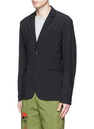 Front View - Click To Enlarge - ASPESI - 'Ristretta' notch lapel tech fabric blazer