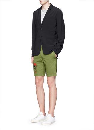 Figure View - Click To Enlarge - ASPESI - 'Ristretta' notch lapel tech fabric blazer