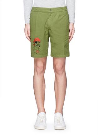 Main View - Click To Enlarge - ASPESI - Pirate print swim shorts