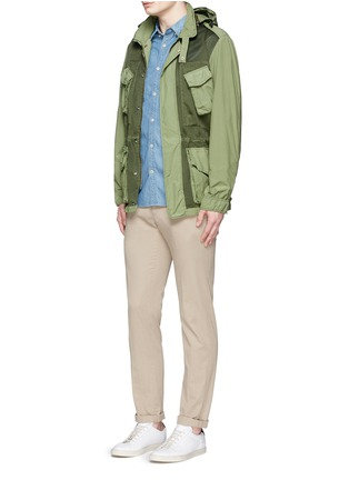 Figure View - Click To Enlarge - ASPESI - Mesh front M65 field jacket