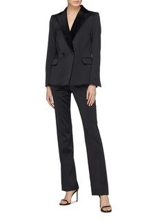 Frame Denim Peaked velvet lapel satin tuxedo blazer