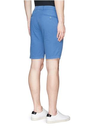 Back View - Click To Enlarge - ASPESI - Cotton twill Bermuda shorts