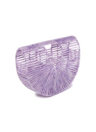 Detail View - Click To Enlarge - CULT GAIA - 'Ark' acrylic small caged saddle bag